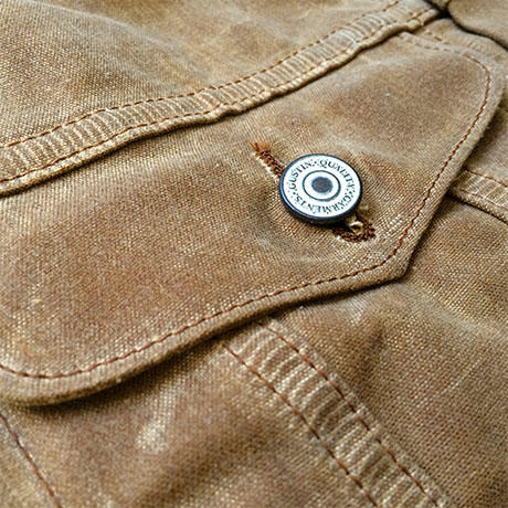 Original Trucker Jacket Waxed Brown Usa Waxed Canvas Jacket