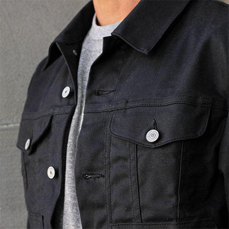 Trucker Jacket Waxed Black