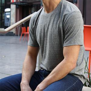 USA T-Shirt Heather Grey 2PK