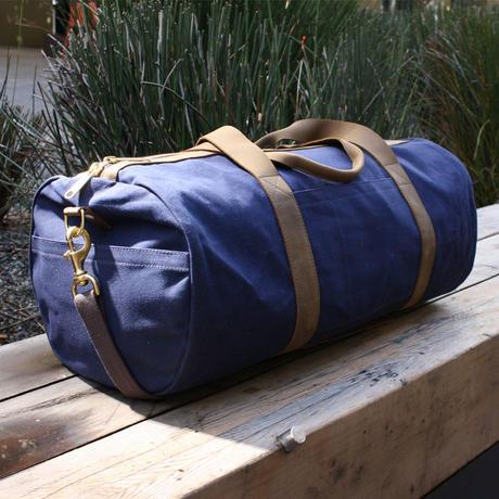 Navy Blue Waxed Canvas Duffel Bag 122e883e471f5