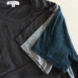 USA T-Shirt 3PK (Heather Grey, Coal, Sea Blue Heather)