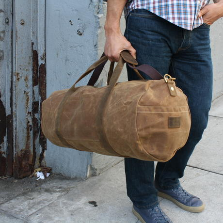 9daafde707ad Brown Waxed Canvas Duffel Bag