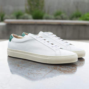 White-Green Low Top