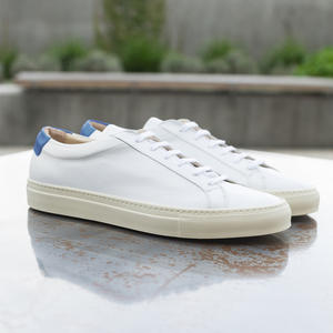 White-Blue Low Top
