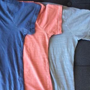 Slub T-Shirt 3PK (Aquamarine, Faded Rose, Faded Grey)