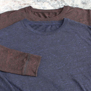 Long Sleeve-T 2PK (Heather Rust, Heather BluexBlack)