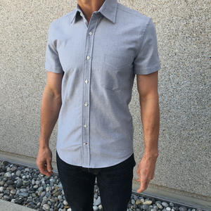 Short Sleeve Japan Charcoal Oxford