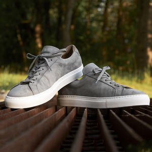 Grey Nubuck Low Top