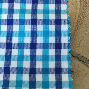 TurquoiseXNavy Poplin Check