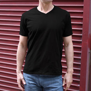 USA V-Neck Black 3PK