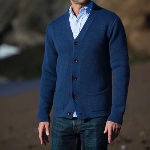 Cardigan Sweater - Navy Merino Wool