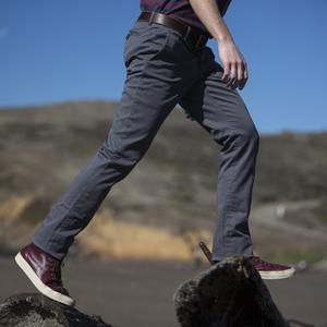 #100 Graphite Stretch Chino