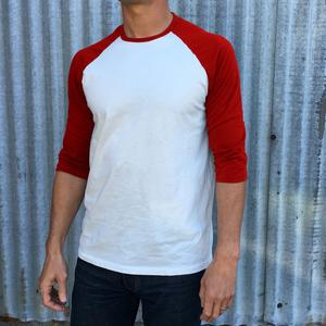 Baseball Tee White-Red