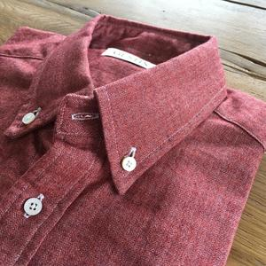 #465 Crimson Heather Herringbone