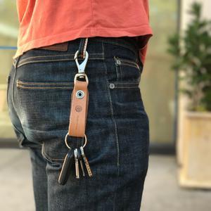 Swivel Hook Keychain - Horween Natural