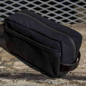 Dopp Kit - Black Waxed Canvas