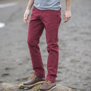 #97 Deep Red Duck Canvas Chino