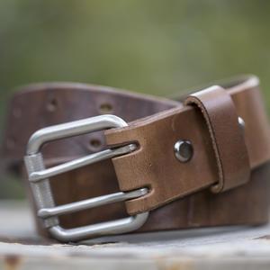 Double Prong Belt - Horween Natural