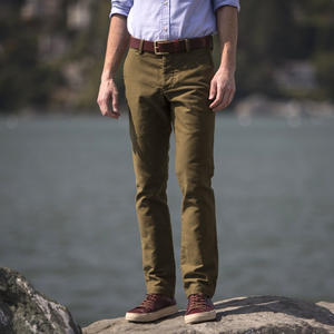 #148 Brown Olive Military Corduroy Chinos