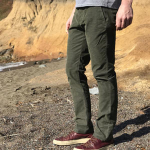 #153 Olive Stretch Corduroy Chinos