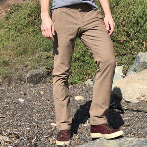 #154 Brown Stretch Corduroy Chinos