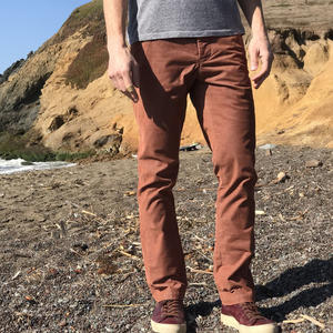 #156 Rust Stretch Corduroy Chinos