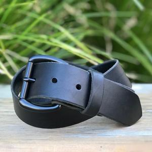 Black Roller Belt - Illini Latigo Black