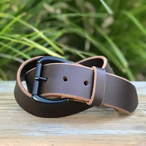 Black Roller Belt - Illini Latigo Brown