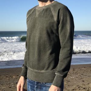 Oil Washed Sweatshirt - Olive