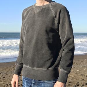 Oil Washed Sweatshirt - Vintage Black