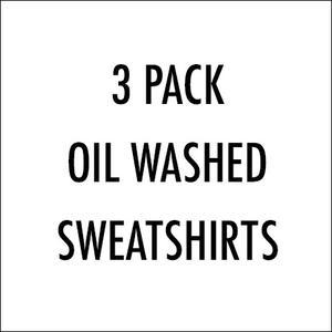 Oil Washed Sweatshirt 3 Pack