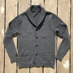 Shawl Cardigan - Charcoal Merino Wool
