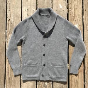 Shawl Cardigan - Grey Merino Wool