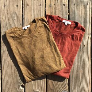 USA Heather Long Sleeve T-Shirt 2PK (Camel, Oxblood)
