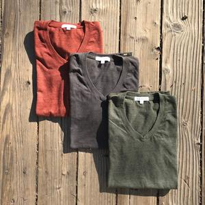USA Heather V-Neck 3PK (Oxblood, Gunmetal, Pine)