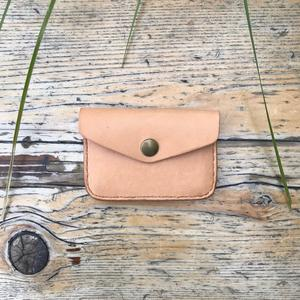 Horween Snap Wallet - Natural Essex
