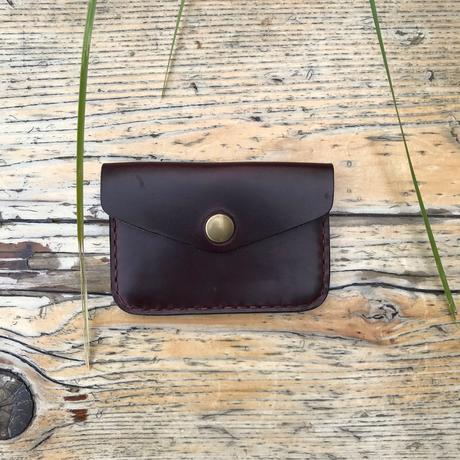 Horween Brown Chromexcel Leather One Pocket Flap Card Holder Wallet