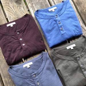 Slub Pocket Henley 4 Pack