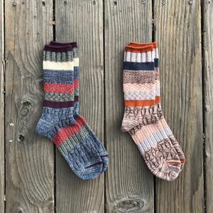 Japan Vintage Jacquard Sock 2PK
