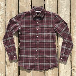 #560 Burgundy Charcoal Flannel