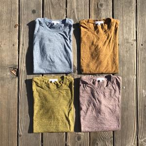 USA Heather Long Sleeve T-Shirt -  Desert 4PK