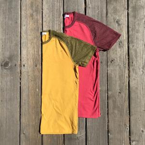 Raglan T-Shirt 2PK (Crimson, Gold)