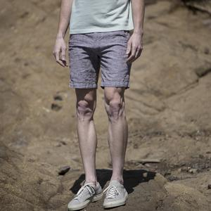 #15 Rust Linen Chambray Chino Shorts