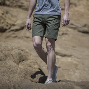#18 Olive Herringbone Chino Shorts