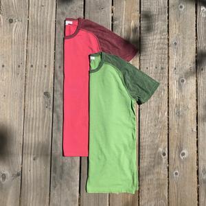 Raglan T-Shirt 2PK (Crimson, Fern Green)