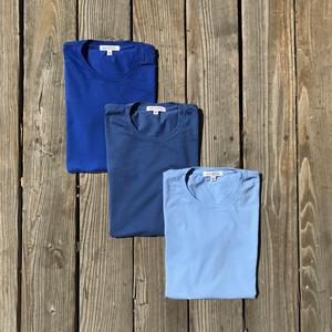 USA Triple Blue T-Shirt 3PK (Royal, Faded, Sky)
