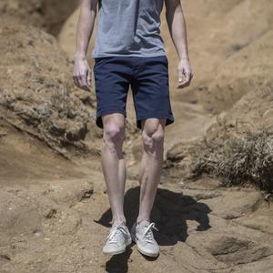#27 Navy Herringbone Chino Shorts