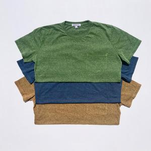 USA Heather Pocket T-Shirt - 3PK (Fern Green, Faded Blue, Bronze)
