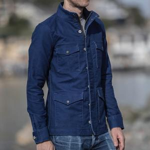 Field Jacket - Indigo Dyed Moleskin