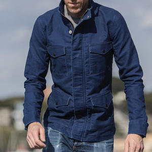 Field Jacket - Indigo Dyed Moleskin